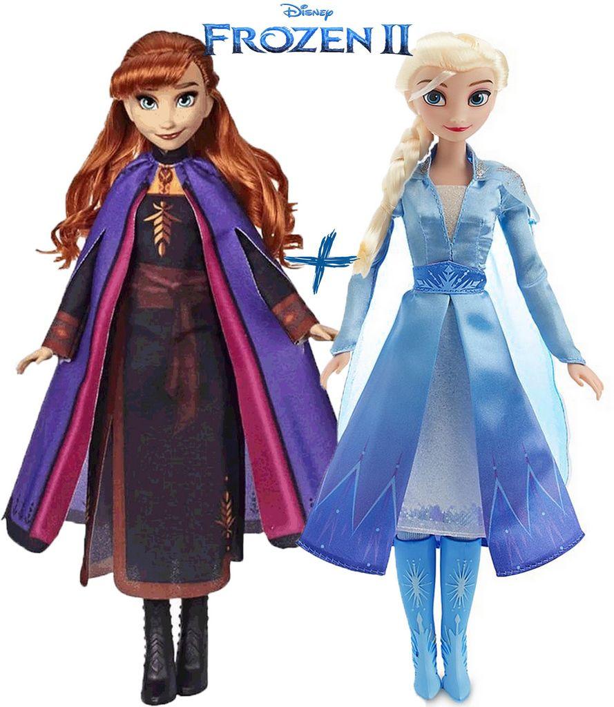 Kit Bonecas Frozen Elsa E Anna Grande 80 Cm Vinil Divertida Infantil Meninas Lançamento Baby Brink