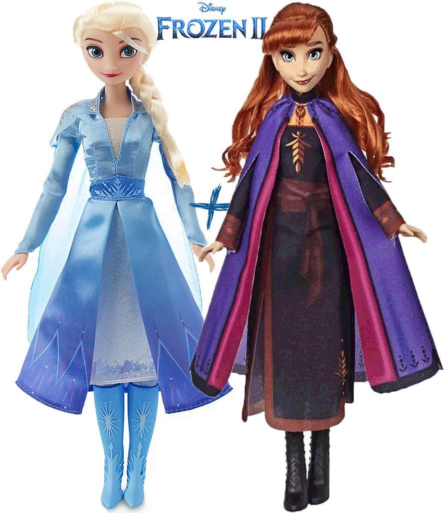Kit Bonecas Frozen Elsa E Anna Média 53Cm Vinil Divertida Infantil Meninas Lançamento Baby Brink