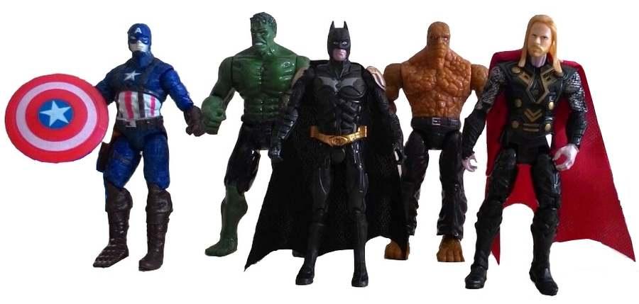 Kit Bonecos Vingadores Marvel Super Heróis - Brinquedos Menino