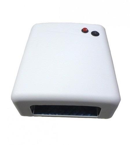 Kit Cabine Estufa Uv 36w  + Lixa Lixadeira Elétrica Bivolt