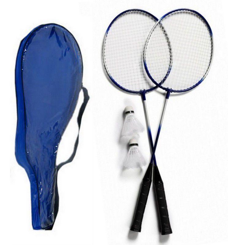 Kit Com 2 Raquetes De  Badminton 2 Petecas e Bolsa para transporte