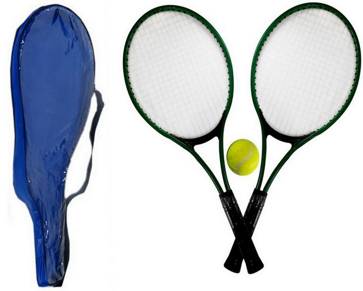 Kit Com 2 Raquetes De Tênis Acompanha 1 Bola Tênis
