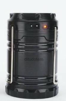 Kit Com 5 Lampiões Led Solar Elétrica Recarregável