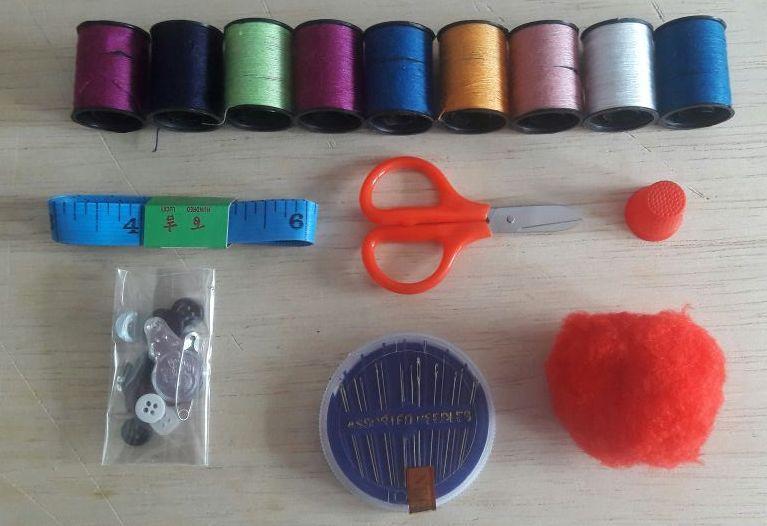 Kit Costura 15 Itens Bolsa Festa Brindes Linda Maletinha