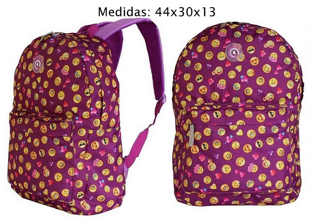 844d3a5c336d1 ... Kit de 14 Mochilas Bolsa Para Revenda Atacado Feminina Smile Estampada  Carinhas Jovem - Ditudotem ...