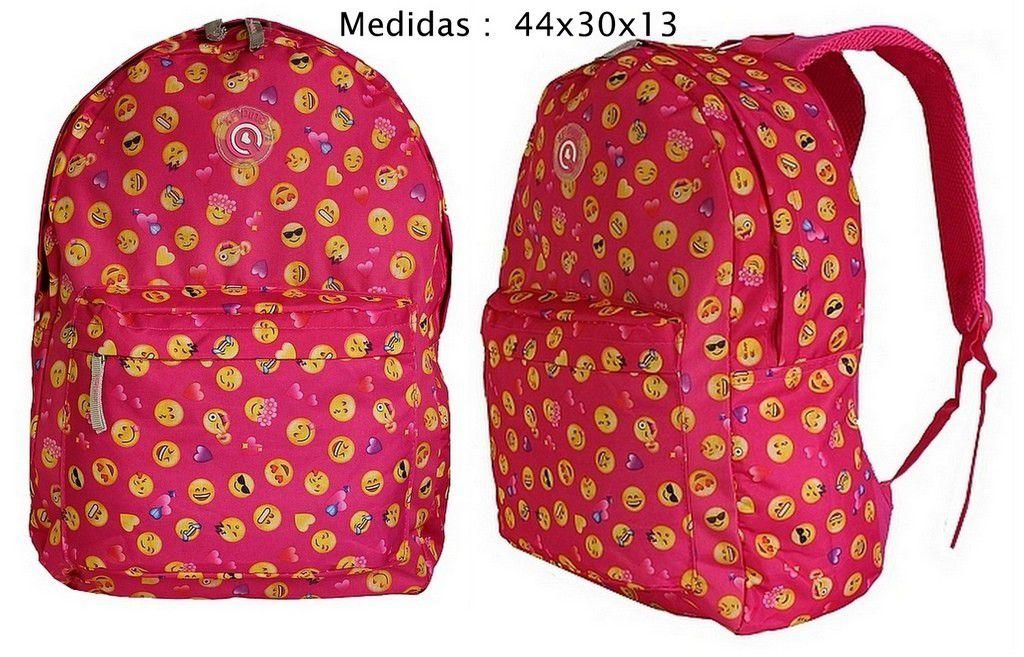 Kit de 14 Mochilas Bolsa Para Revenda Atacado Feminina Smile Estampada Carinhas Jovem