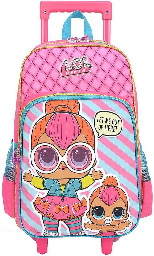 Kit Escolar Lol Surprise Mochila Rodinha Lancheira Garrafinha e Potinho Original Luxcel