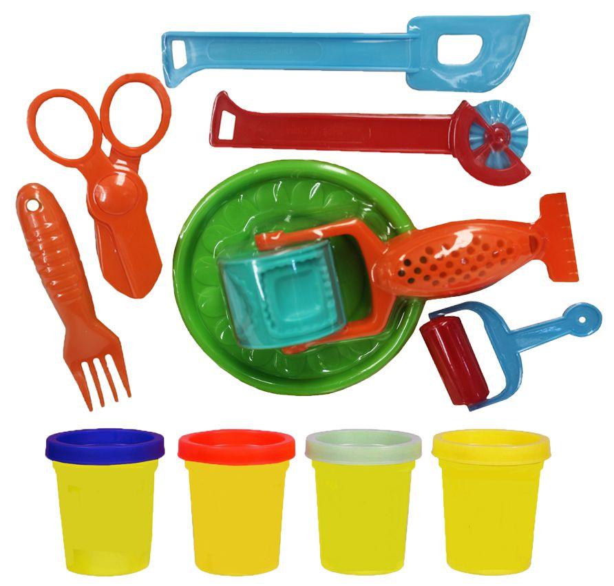 Kit Fabrica De Massinha Modelar Colorida Infantil Menina Menino Rolo Plástico VB168 Original Vip Toys