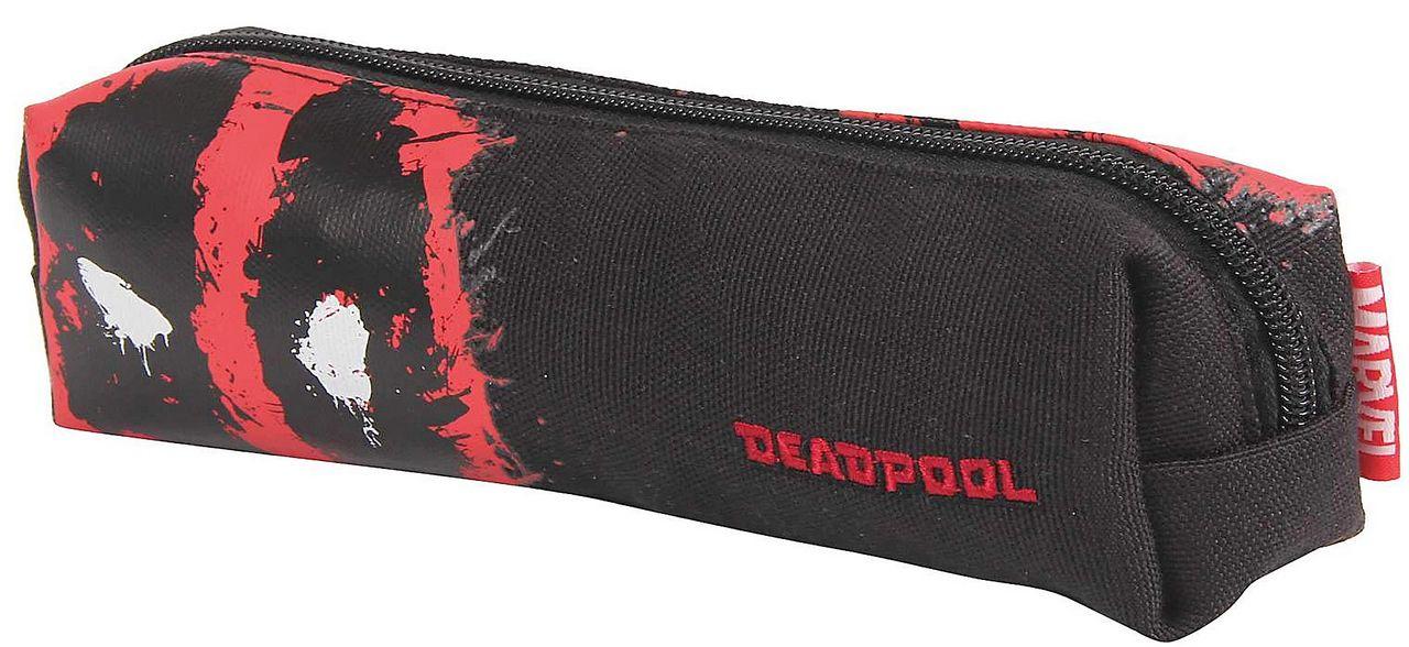 Kit Mochila Escolar Juvenil Masculino Deadpool Resistente Estojo Dermiwil
