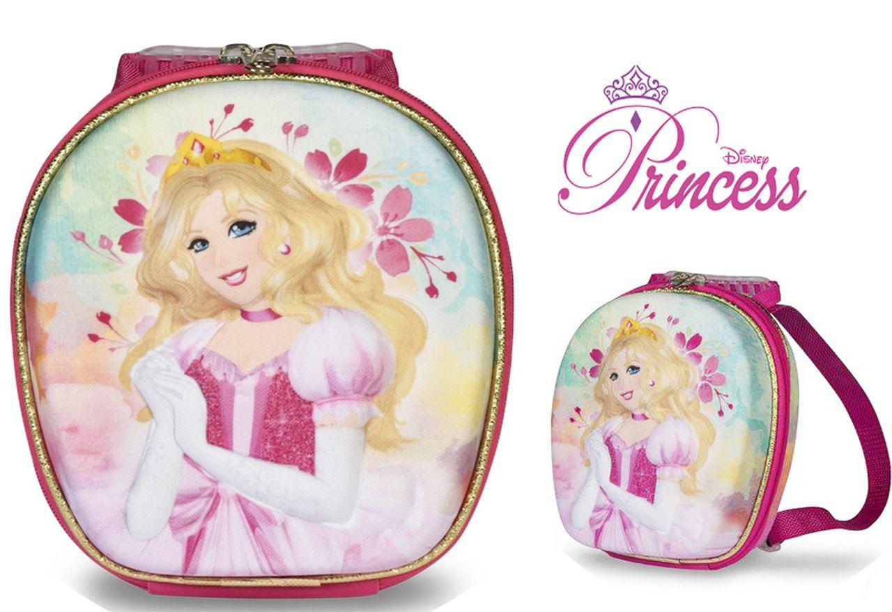 Kit Mochila Infantil Escolar Rodinha Carrinho Meg Princess Com Lancheira Maxtoy