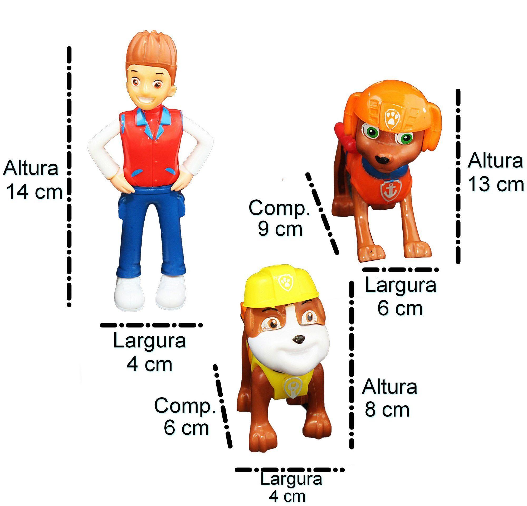 Kit Patrulha Canina Bonecos Personagens Carrinho Infantil