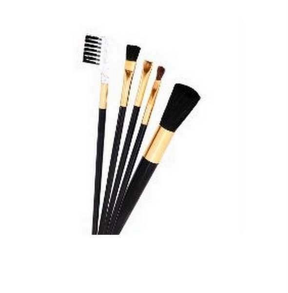 Kit Pincéis Para Maquiagem Com 5 Peças - Abelha Rainha
