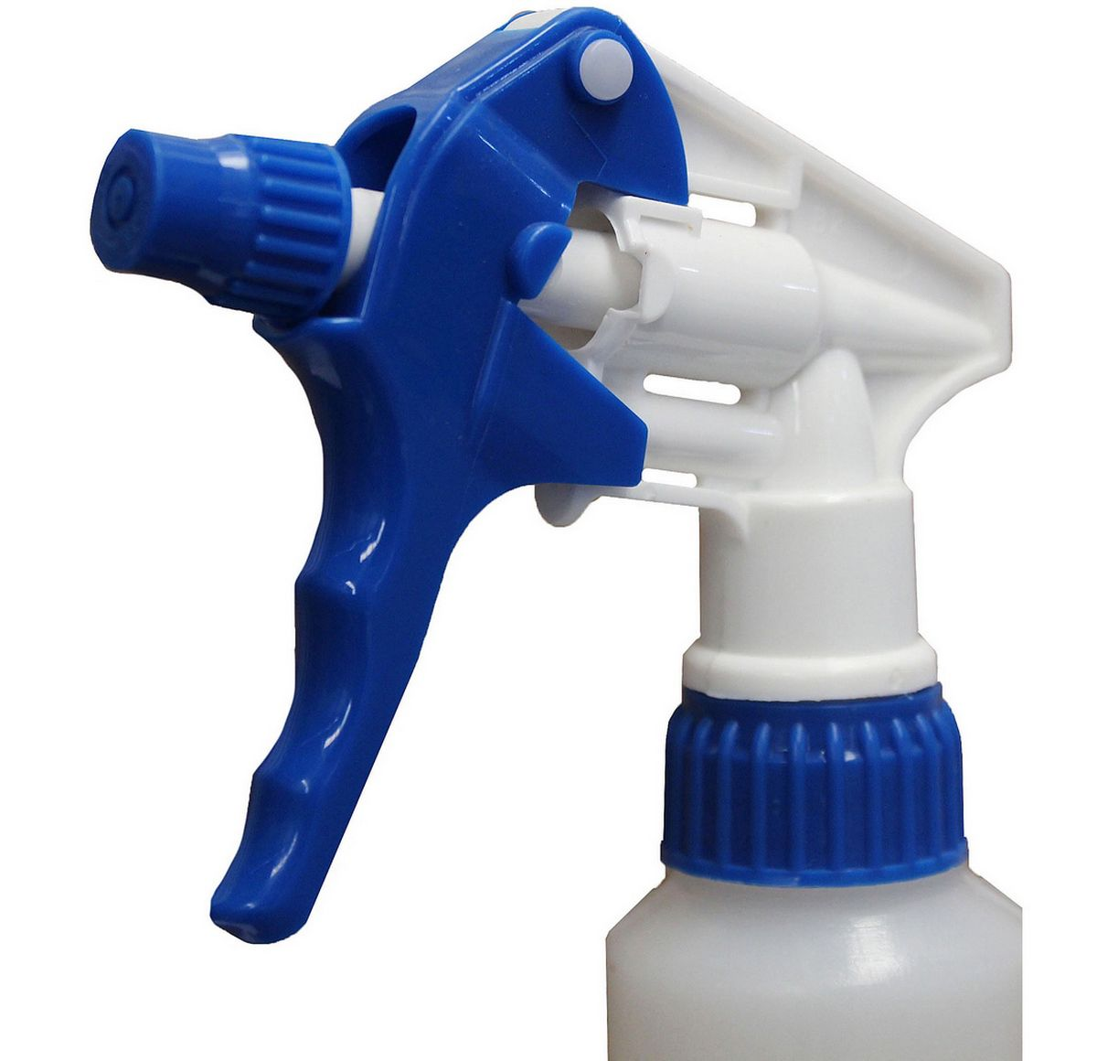 Kit Pulverizador Borrifador Manual 1 Litro Bico Gatilho Spray Azul Branco Perfect + Sabonete Líquido 1 Litro Antisséptic