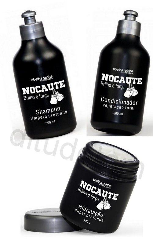 Kit Shampoo Condicionador Mascara Nocaute Abelha Rainha