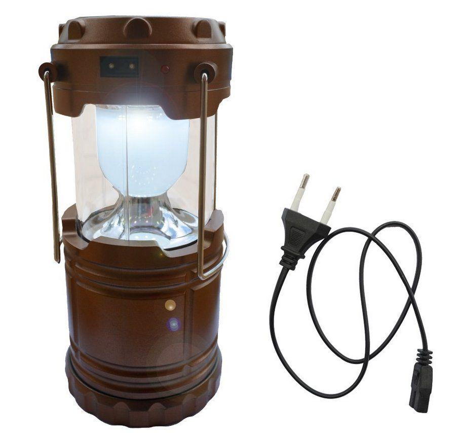 Lampião E Lanterna Led Recarregável Luz Solar USB Elétrico