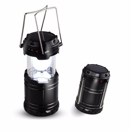 Lampião em Led - Recarga Elétrica e Luz Solar + 10 Horas de Carga