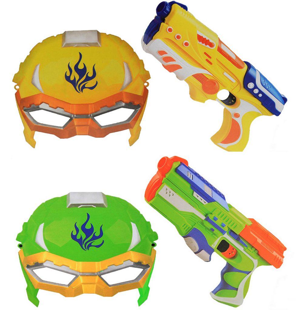 Lançador De Dardo Arminhas Nerf Pistola Brinquedo Menino Menina Mascara Verde Amarelo Original Vip Toys