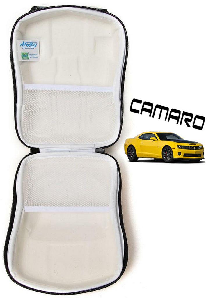 Lancheira Escolar Infantil Camaro Amarelo Maxtoy 3D
