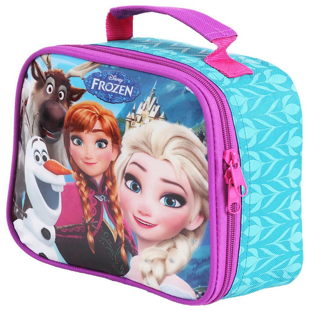 Lancheira Escolar Infantil Menina Resistente Frozen Dermiwil