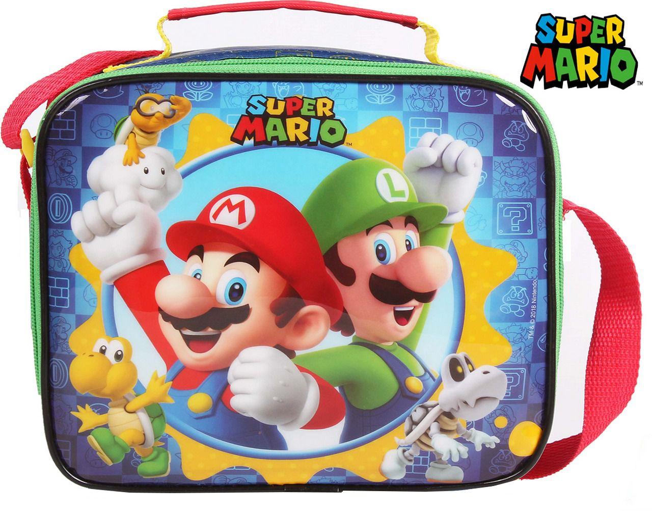 Lancheira Escolar Resistente Super Mario Infantil Menino DMW