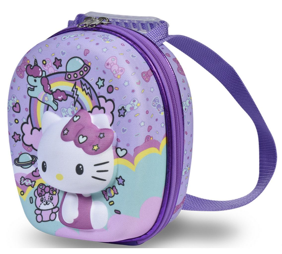 Lancheira Hello Kitty Escolar Menina Infantil Maxtoy