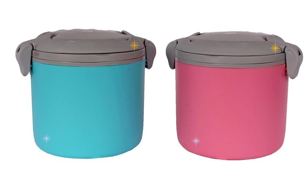 Lancheira Marmita Crianças Pote Para Comida Microondas  + Colher