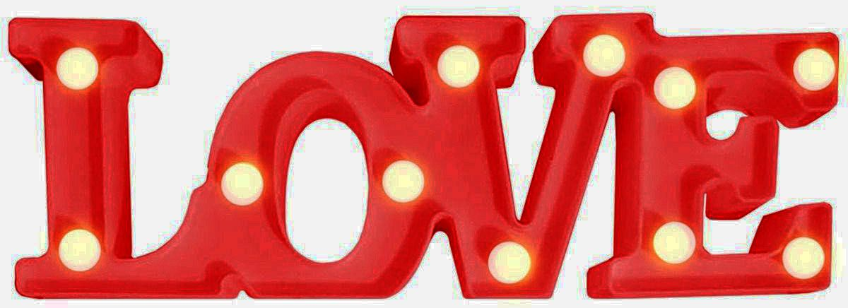Luminária Led Decorativa 11 Leds Love - 2 PIilhas AA Casita