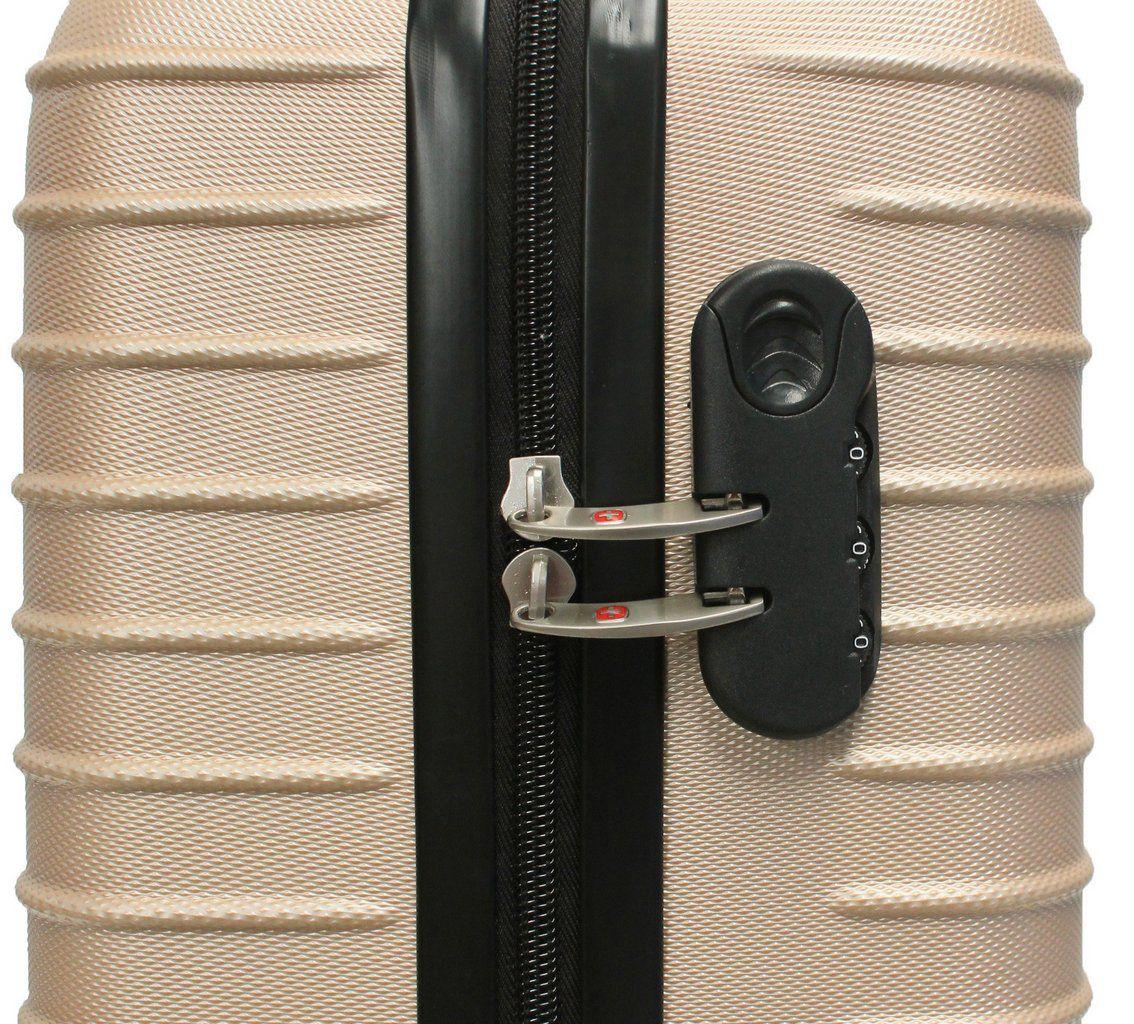 Mala Bordo Viagem Pequena Abs Rígida 4 Rodinhas 360º Resistente Dourada C615 Hinza 18'' Original ANAC