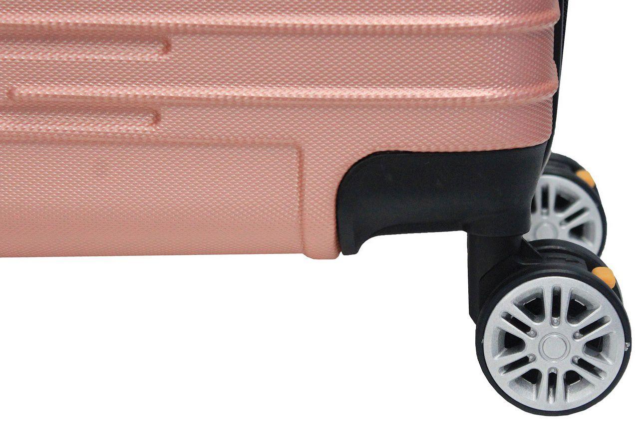 Mala Bordo Viagem Pequena Abs Rígida 4 Rodinhas 360º Resistente Rose C616 Hinza 18'' Original ANAC