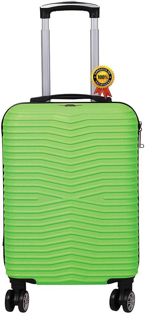 Mala De Viagem Abs Rígida Pequena 4 Rodinhas Giratórias Cadeado Fixo TSA Verde Resistente Unissex Lançamento Santino