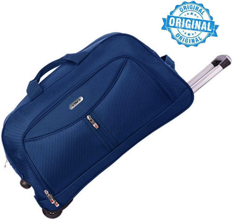 Mala De Viagem Alça De Mão Carrinho Azul Resistente Sacola Grande Em Poliester Azul Escuro G Yins