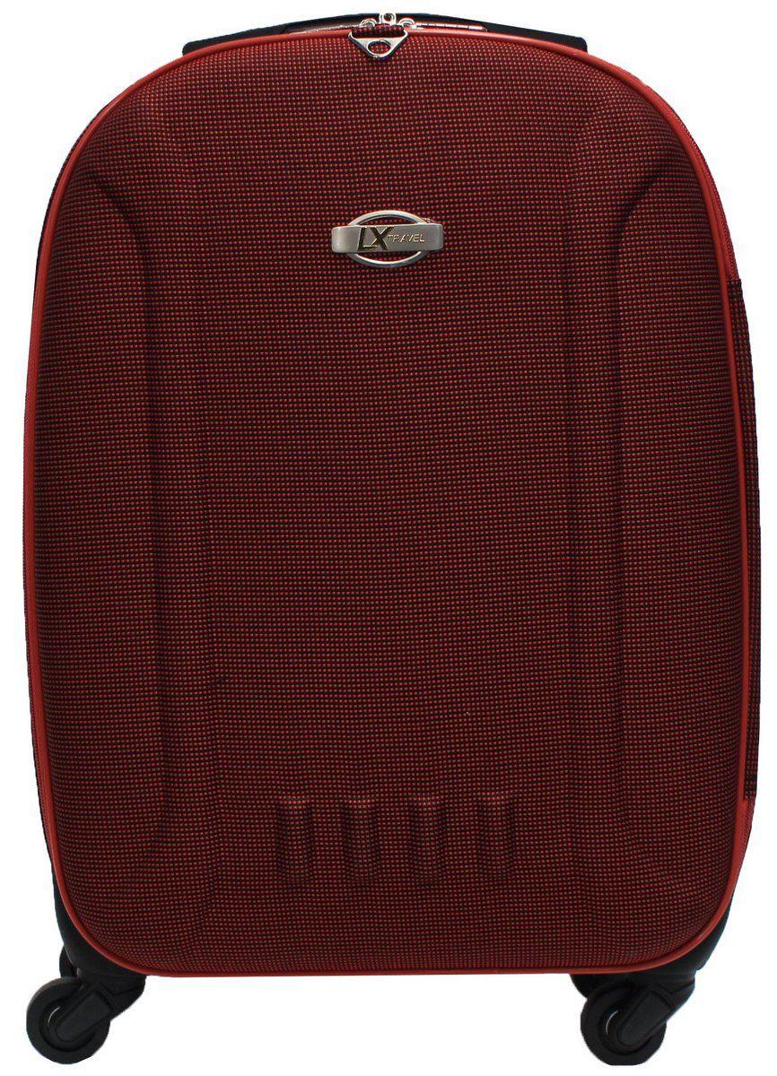 Mala De Viagem Pequena Rígida 4 Rodinhas 360° Poliéster Vermelha Resistente Luxcel Original