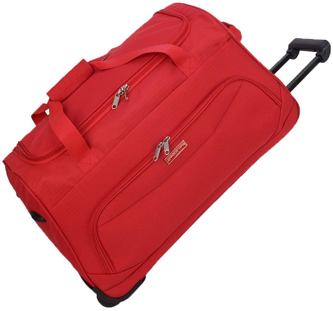 Mala Bolsa De Mão Sacola Viagem Poliéster Pequena Resistente Rodinha 38 Litros Vermelha Polo King Original