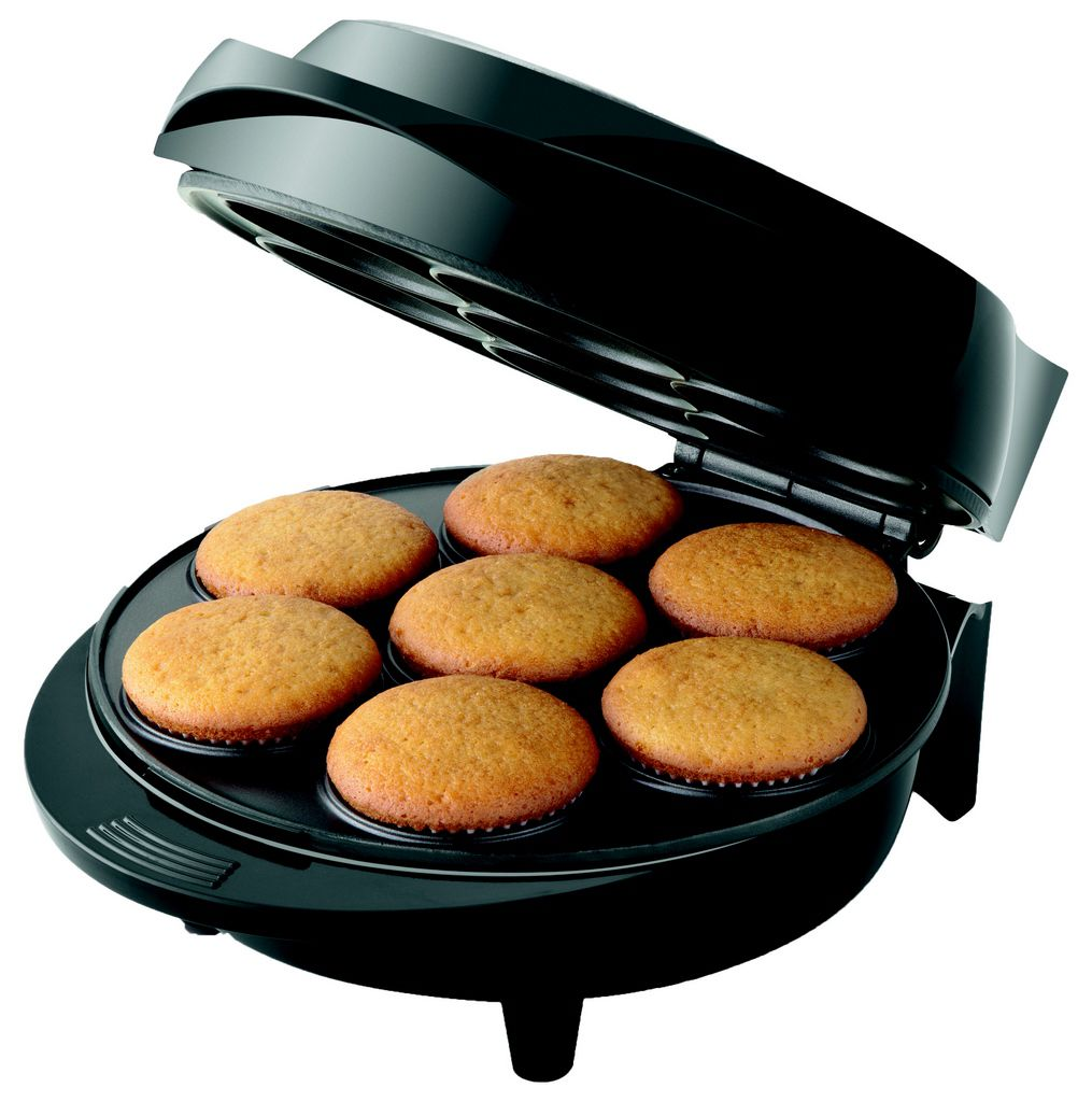 Máquina De Cupcake Antiaderente Aço Inox 1000w Preto 127v Maker Prática Bolinho Mondial Original