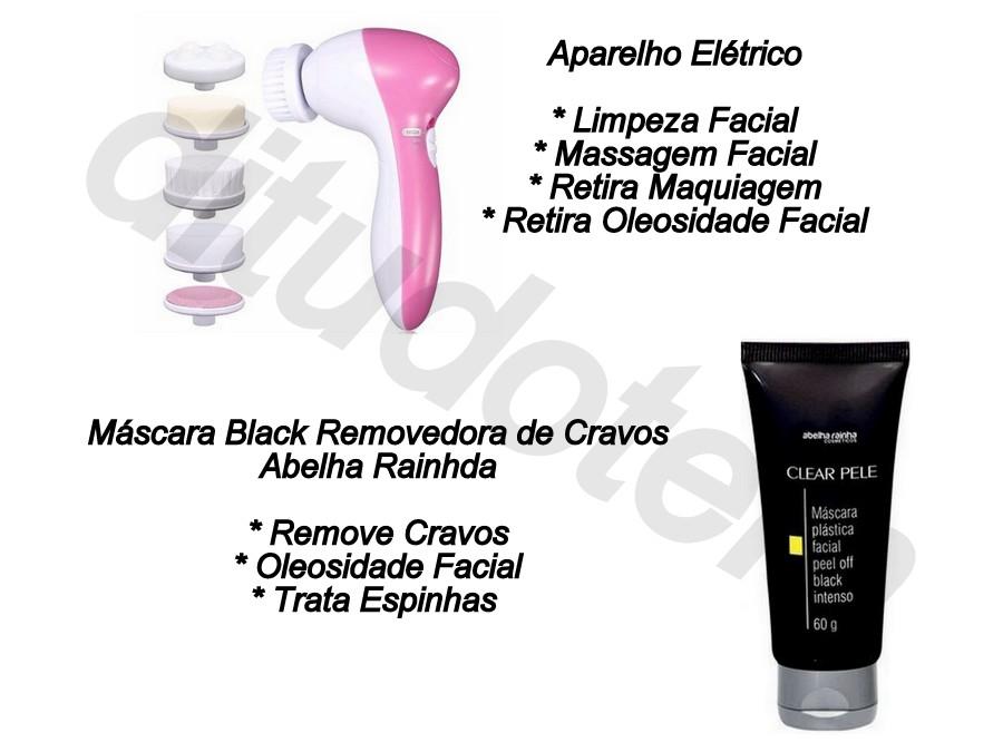 Mascara Black Abelha Rainha + Massageador Facial