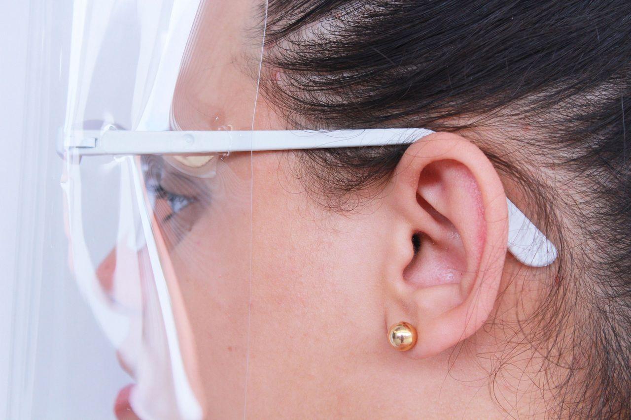 Máscara De Proteção Facial Com Óculos Viseira Proteção Transparente Respingo
