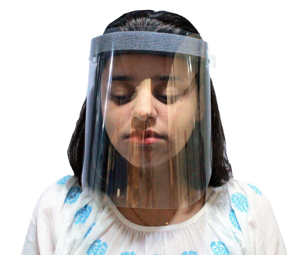 Máscara De Proteção Cirurgica Facial Acrilico Não Descartável Lavável Transparente Com Elástico Não Machuca