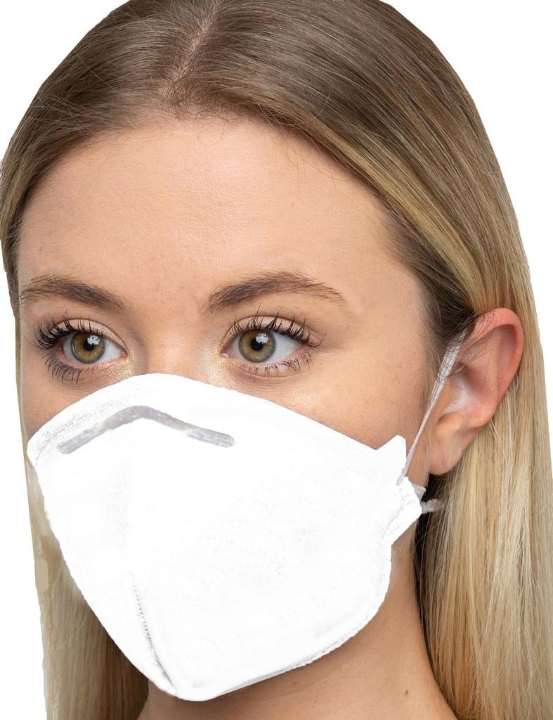 Máscara Kn95 Branca Tecido Reutilizável N95 Pff2 Hospitalar Anvisa Clipe Nasal Respiratória Ksn