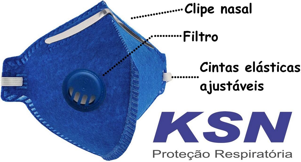 Máscara Kn95 Tecido Reutilizável N95 Pff2 Hospitalar Anvisa Clipe Nasal Respiratória Com Filtro Respirador Ksn