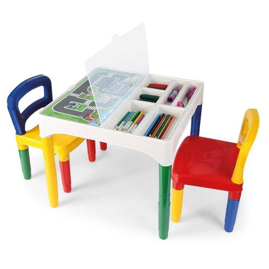 Mesinha Didática Infantil Menino Menina Colorido Mesa Cadeira Desmontável Plastico Resistente Original Poliplac