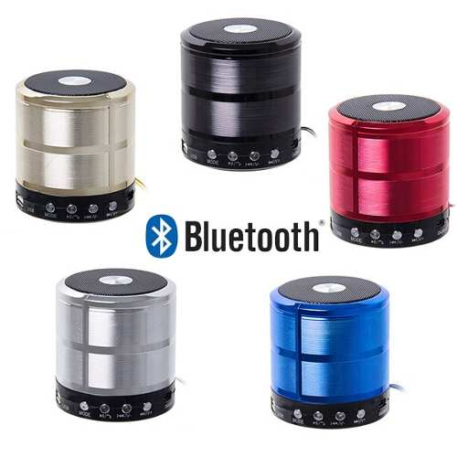 Mini Caixa de Som Bluetooth MP3 FM SD USB P2