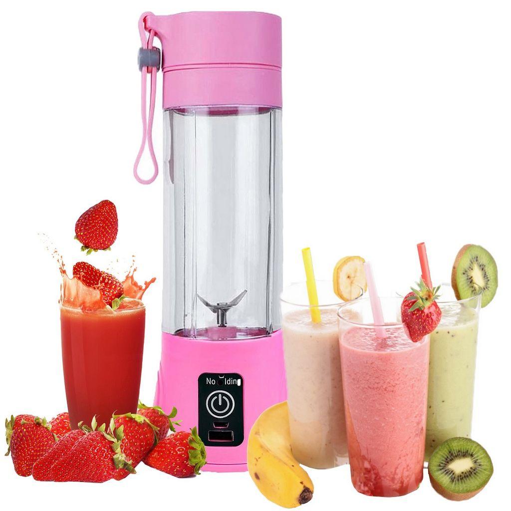 Mini Liquidificador Portátil Elétrico 380 Ml Academia Shakes Sucos Vitamina Pequeno Resistente Viagem Versátil Novo Juice Cup