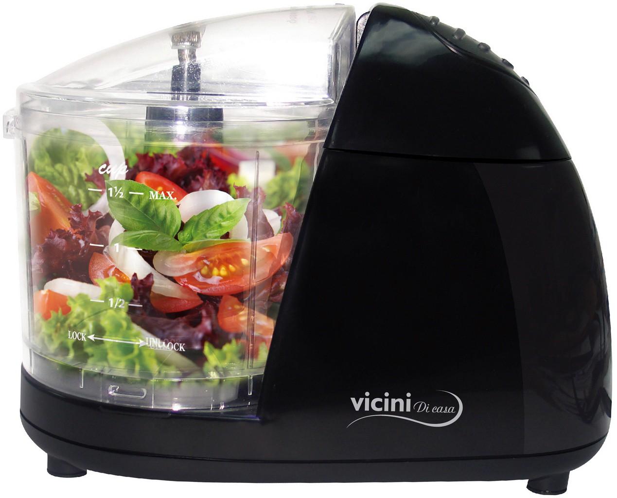 Mini Processador Alimentos Moedor Triturador Legumes Frutas Resistente Pequeno Moderno Cozinha Aço Inoxidável - Vicini - EPV-86