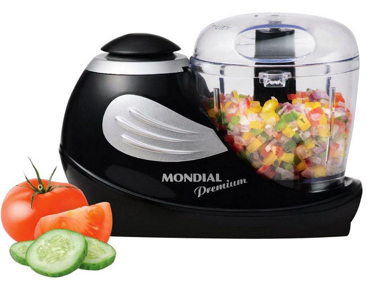 Mini Processador Alimentos Moedor Triturador Legumes Frutas Resistente Pequeno Moderno Cozinha Aço Inoxidável Mondial