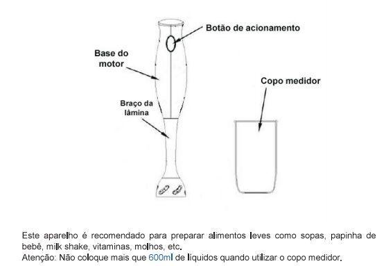 Mixer Liquidificador Alimentos Batedor Bebidas Portátil Shake Vicini - EPV-860