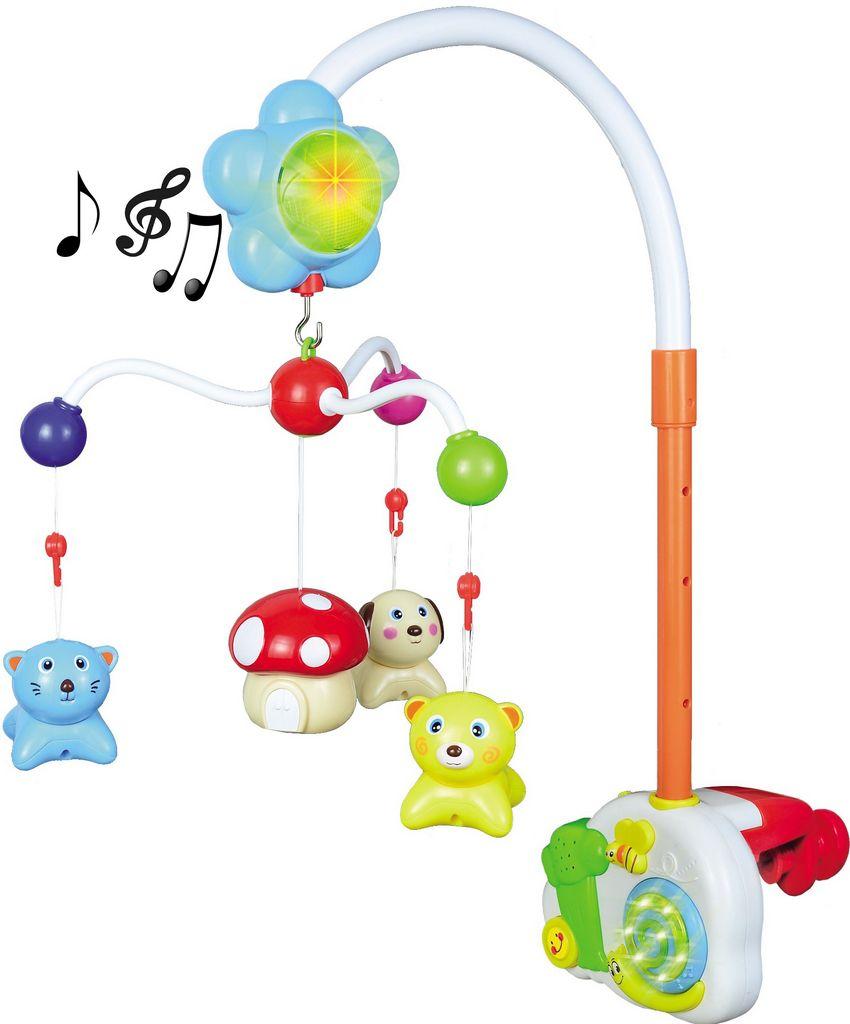 Móbile Musical Divertido Animais Inteligente Bebê Canta 26 Músicas Acende Luz Estimula Coordenação Motora Original Zoop Toys Modelo ZP00118