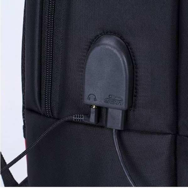 Mochila Bolsa Social Notebook 15.6 Cabo De Aço Saida USB
