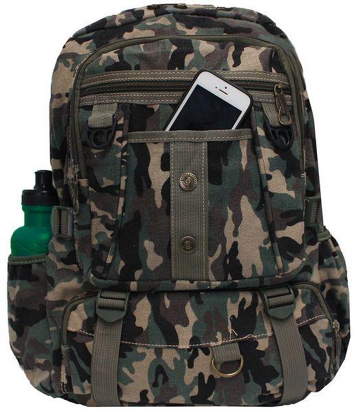 Mochila Camuflada Militar Tática Escolar Masculina Verde Exército Camping Reforçada Grande