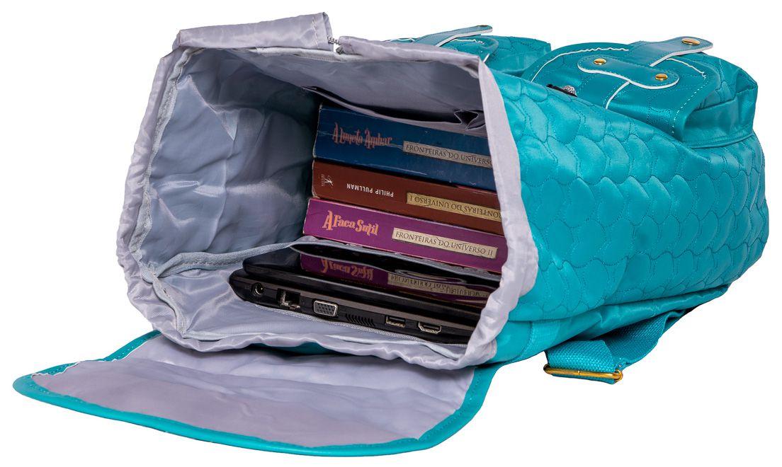 Mochila Capricho Love Green Escolar Notebook 15.6 Saco