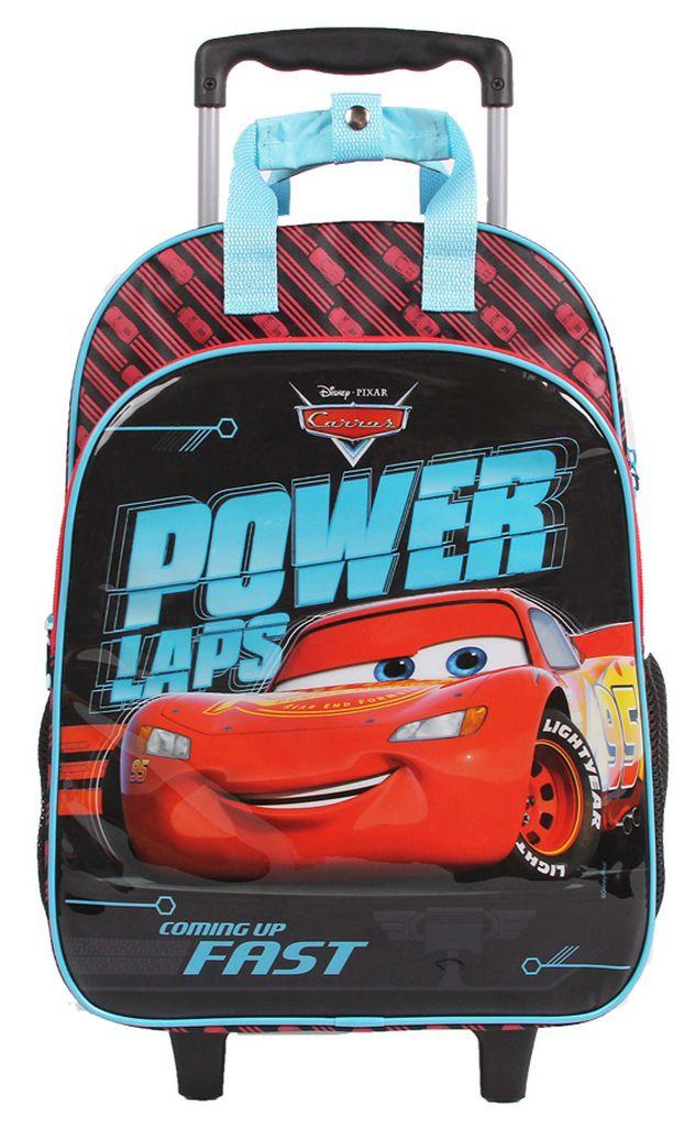 Mochila Escolar Carros Stickers Rodinhas Infantil Menino Carrinho Resistente Dermiwil